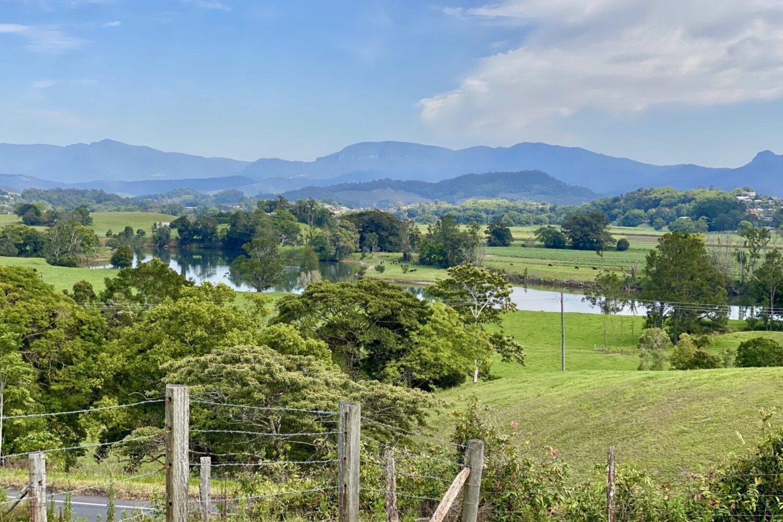 green rolling hills of Tweed Valley