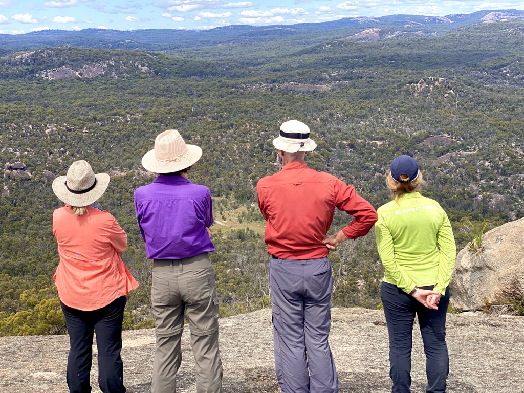 four people Admire the view